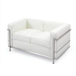 LC2- Loveseat – White