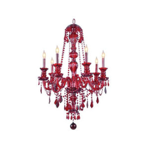 Chandelier-Red-7-bulb