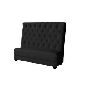 Riviera Sectional – Armless Sofa – Black