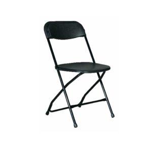 Chair – Folding Plastic – Black