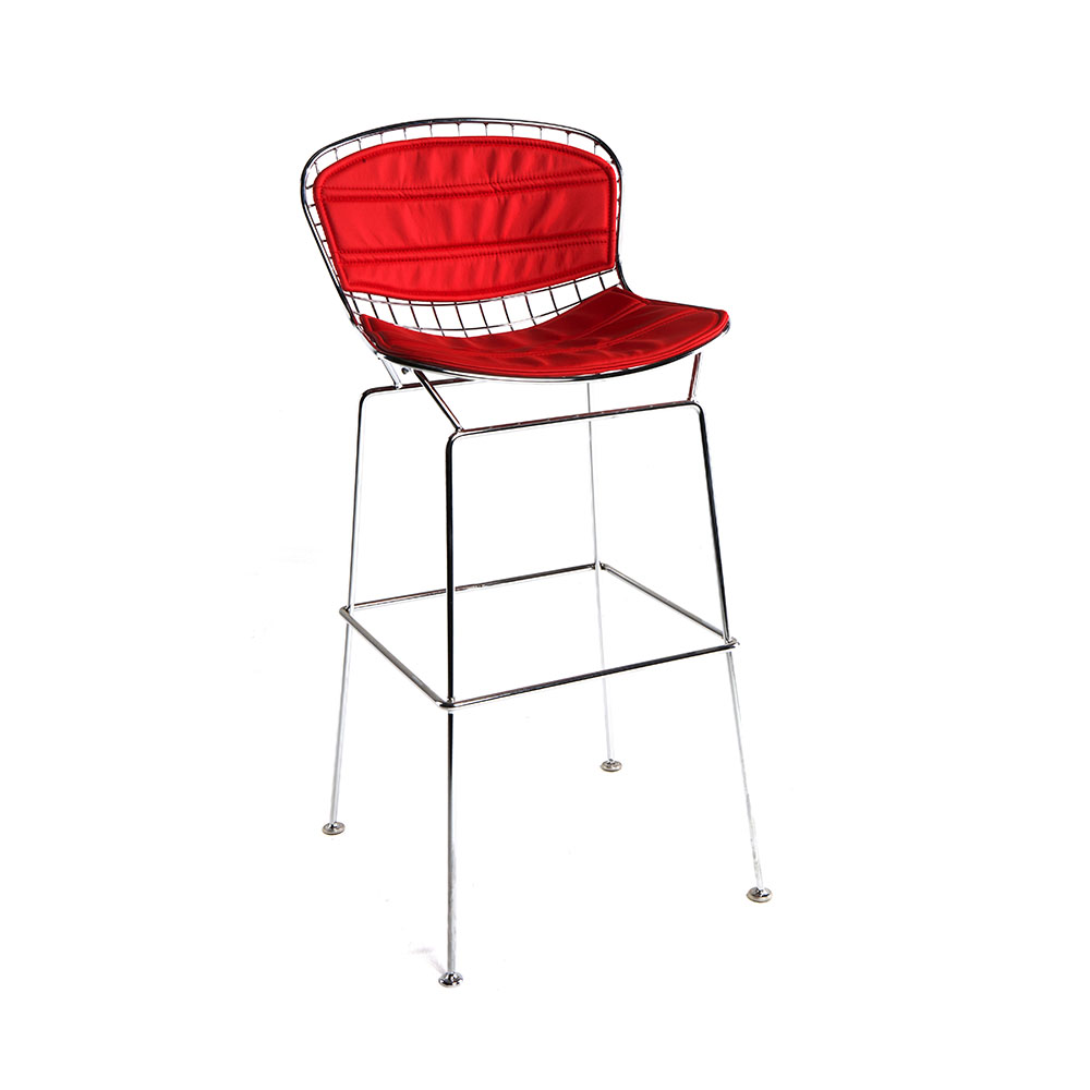 Marina Wire Mesh Bar Stool 204 Events Outdoor Phone Line Wiring Red