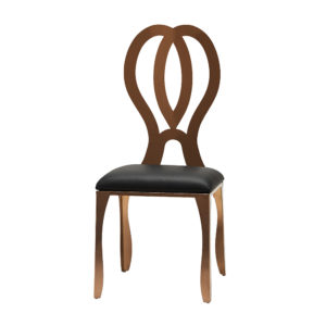 Rose-Gold-Dining-Chair-Black-Pad