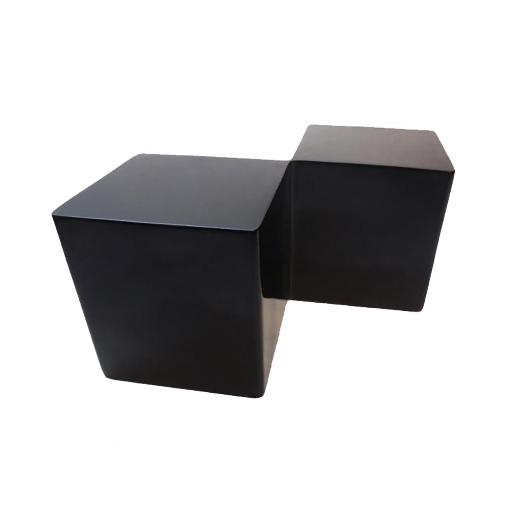 Rubiks Cube End Table Black 1