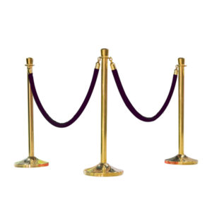 STANCHION-ROPE-WITH-GOLD-TIPS-BLK
