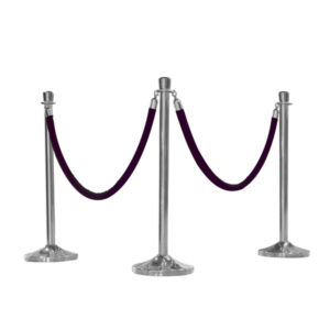 Stanchion-Rope-with-Chrome-Tips