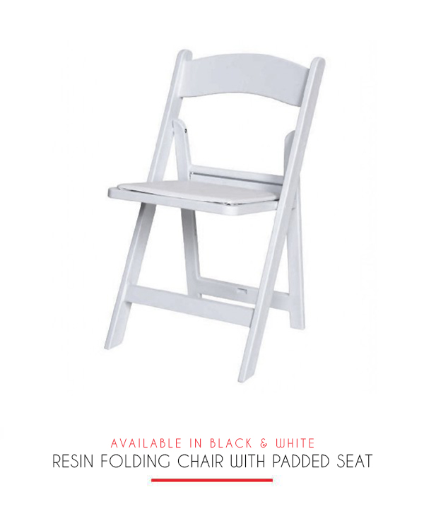 Surprising Resin Folding Chair With Padded Seat 204 Events Theyellowbook Wood Chair Design Ideas Theyellowbookinfo