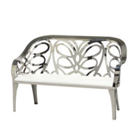 Monaco Love Seat - Chrome Lattice
