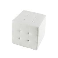 Riviera Tufted Cube - White