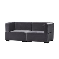 Madrid Loveseat _ Grey Velvet