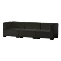 Madrid Sofa _ Black Leather