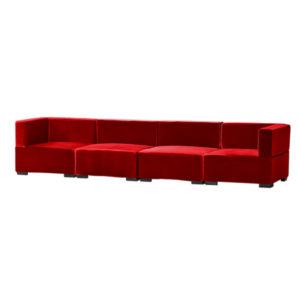 Madrid XL Sofa_Red Velvet
