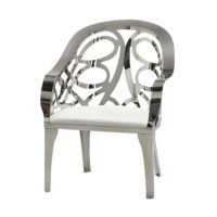 Monaco Chair - Chrome Lattice - White