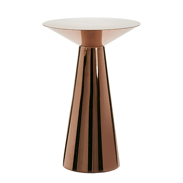 Rose Gold Mirrored Coffee Table: MARTINI COCKTAIL TABLE