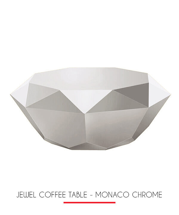 Astonishing Jewel Coffee Table Monaco Chrome 204 Events Pabps2019 Chair Design Images Pabps2019Com